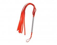 Плеть латексная красная, средняя с увеличенной рукоятью