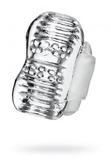 Мастурбатор нереалистичный LINGAM KHANI, прозрачный, 9 см