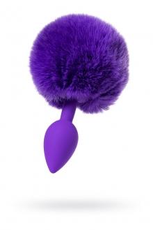 Анальная втулка с хвостиком TODO SWEET BUNNY, Ø 2,8 см, силикон, фиолетовый