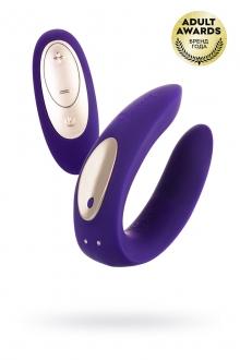 Многофункциональный стимулятор для пар с ПДУ, SATISFYER PARTNER TOY PLUS REMOTE, силикон, фиолетовый