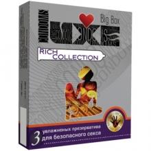 Презервативы LUXE RICH COLLECTION цветные, 3 штуки